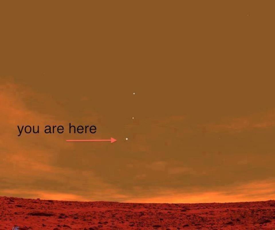 Terra vista de Marte