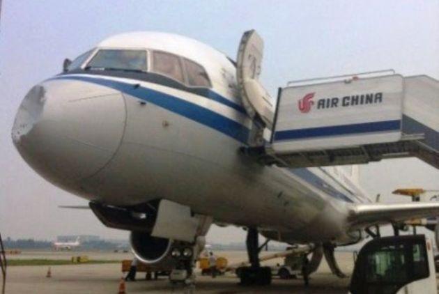 Avião foi atingido por ovni na ponta
