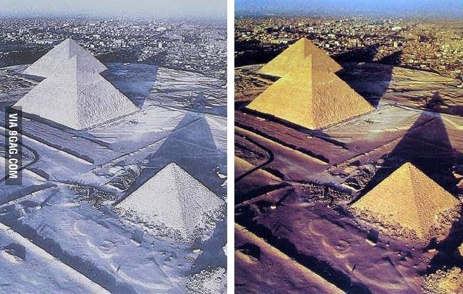 piramides com neve