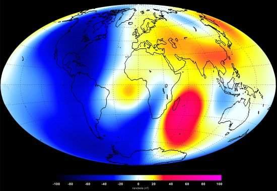 Campo magnético da Terra mostra sinais de enfraquecimento