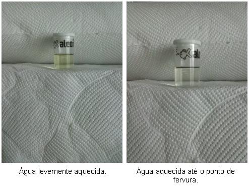 agua aquecida