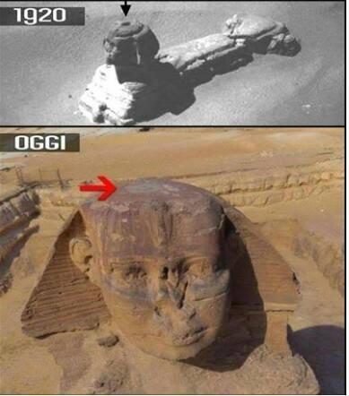 A esfinge tinha uma abertura e nunca é referido nas descrições oficiais