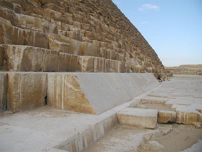 A pirâmide de Quéops 1- Revestimento Original