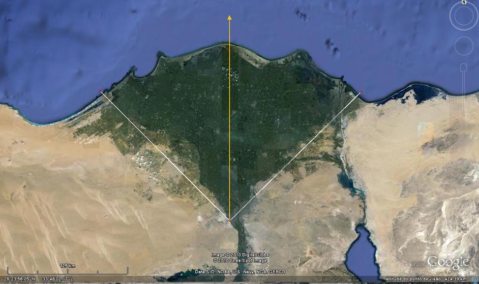 A pirâmide de Quéops 4- Prolongamento diagonais 3